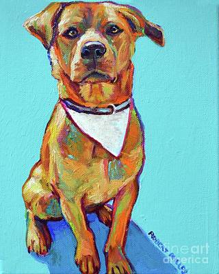 Painting - Pitbull Beagle Mix by Robert Phelps