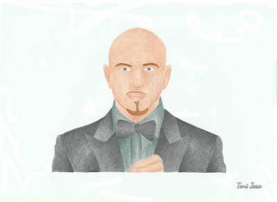 Pitbull Art Print by Toni Jaso