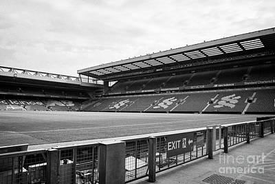 pitch and centenary stand Liverpool FC anfield stadium Liverpool Merseyside UK Art Print by Joe Fox