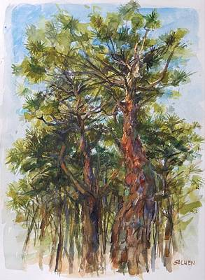 Painting - Pitch Pines, Cape Cod by Peter Salwen