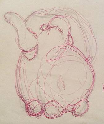 Drawing - Pitcher by Erika Chamberlin