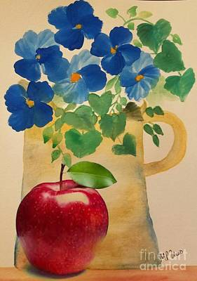 Painting - Pitcher Of Pansies by Maria Urso
