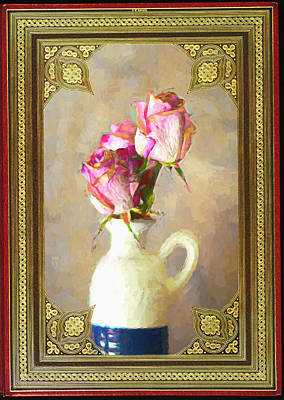 Photograph - Pitcher Of Roses by Larry Bishop