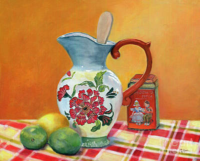 Painting - Pitcher With Lemon And Limes by Marlene Book