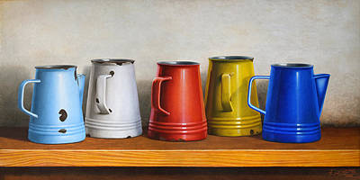Old Pitcher Painting - Pitchers by Horacio Cardozo
