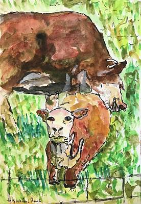 Painting - Pitchford Calf  by Dottie Phelps Visker