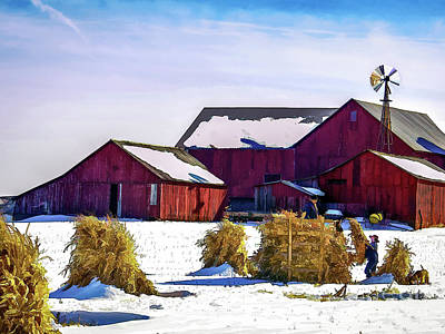 Pitchin Hay Art Print by Robert Gardner