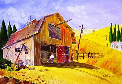 Pitching Hay Art Print by Buster Dight