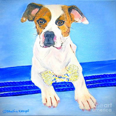 Painting - Pitt Boxer Mix by Shelia Kempf