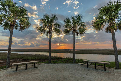 Photograph - Pitt Street Bridge Palmetto Sunrise by Donnie Whitaker
