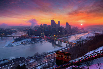 Photograph - Cold Sunrise In Pittsburgh  by Emmanuel Panagiotakis