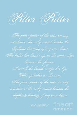 Digital Art - Pitter Patter Poem Typography by Leah McPhail