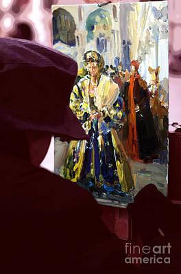 Venezia Digital Art - Pittore Di Venezia by John Rizzuto