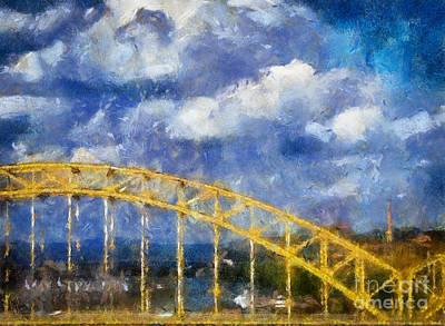 Pittsburgh Bridge Digital Art - Pittsburgh 16th Street Bridge by Amy Cicconi
