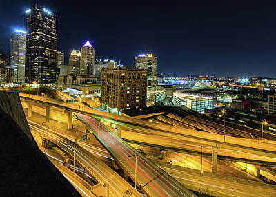 Photograph - Pittsburgh After Dark by Jim Cheney