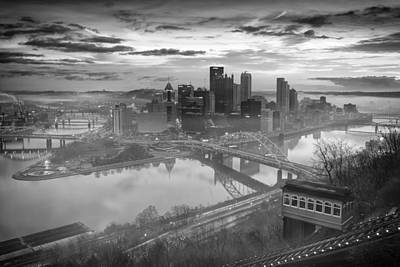 Pittsburgh Architecture 10 Bw Print by Emmanuel Panagiotakis