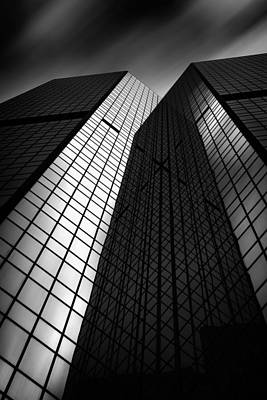 Pittsburgh Architecture75bw Print by Emmanuel Panagiotakis