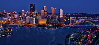 Photograph - Pittsburgh At Night by Stewart Helberg