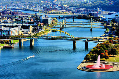 Pittsburgh At The Point Art Print by Michelle Joseph-Long