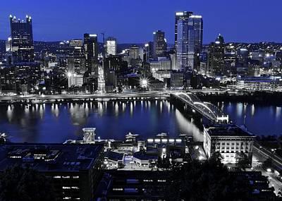 Pittsburgh Blue Art Print