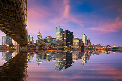 Photograph - Pittsburgh  Blue Hour  by Emmanuel Panagiotakis