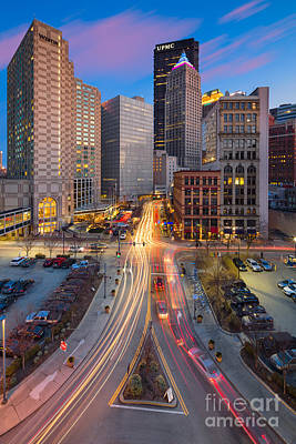 Mellon Arena Photograph - Pittsburgh Cultural District by Emmanuel Panagiotakis