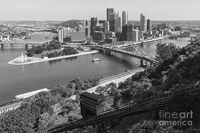 Photograph - Pittsburgh Duquesne Incline And Skyline II by Clarence Holmes