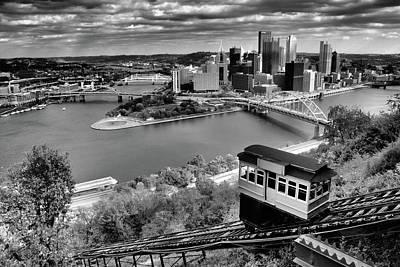 Landscape Photograph - Pittsburgh Duquesne Incline Skyline by Michelle Joseph-Long