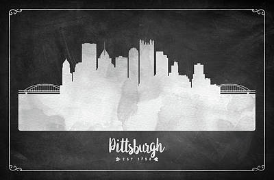 Pittsburgh Arts Digital Art - Pittsburgh Est 1758 - Uspapi03 by Aged Pixel