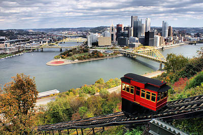 Pittsburgh From Incline Art Print by Michelle Joseph-Long