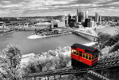 Football Royalty-Free and Rights-Managed Images - Pittsburgh From The Incline by Michelle Joseph-Long