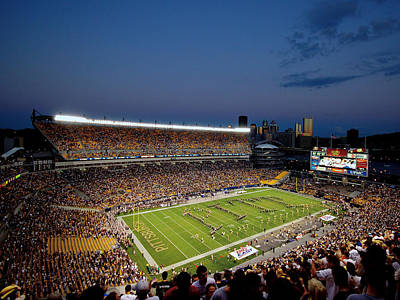 Heinz Field Photograph - Pittsburgh Heinz Field At Dusk by Will Babin