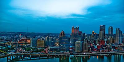 Pittsburgh In Hdr Print by Kayla Yankovic