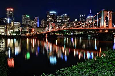 Photograph - Pittsburgh Lights And Foliage 2017  by Frozen in Time Fine Art Photography