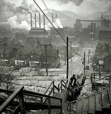 Pittsburgh Steeler Photograph - Pittsburgh Mill District  1940 by Daniel Hagerman