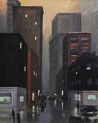 Painting - Pittsburgh Night by Dave Rheaume