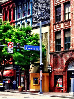 Photograph - Pittsburgh Pa - Liberty Ave And Smithfield Street by Susan Savad