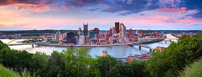 Pittsburgh Panorama 100 Art Print by Emmanuel Panagiotakis
