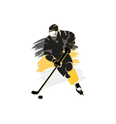 Pittsburgh Penguins Player Shirt Art Print by Joe Hamilton
