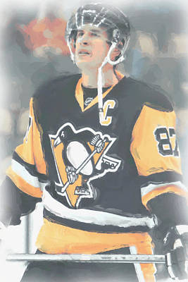Digital Art - Pittsburgh Penguins Sidney Crosby 3 by Joe Hamilton