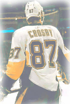 Digital Art - Pittsburgh Penguins Sidney Crosby by Joe Hamilton
