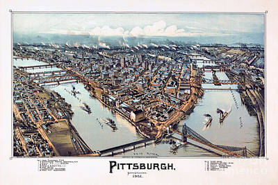 Pittsburgh Pennsylvania 1902 Art Print