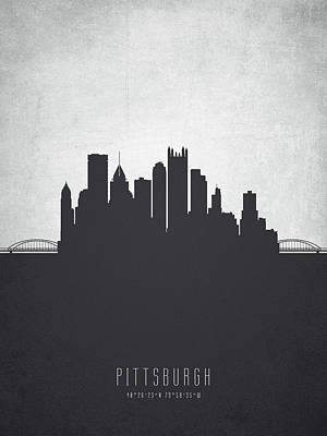 Pittsburgh Pennsylvania Cityscape 19 Art Print by Aged Pixel