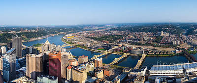 Pittsburgh Pennsylvania Cityscape Panoramic Art Print by Amy Cicconi