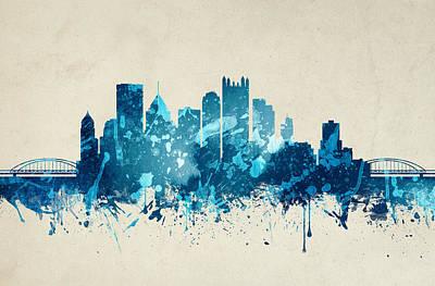 Pittsburgh Pennsylvania Skyline 20 Art Print by Aged Pixel