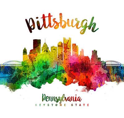 Pittsburgh Pennsylvania Skyline 24 Art Print by Aged Pixel