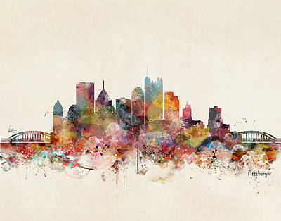 Pittsburgh Painting - Pittsburgh Pennsylvania Skyline by Bri B