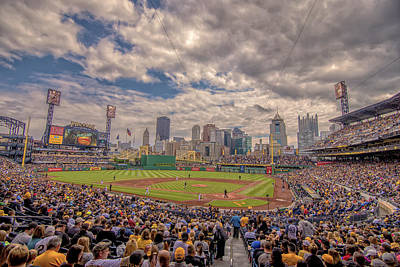 At Poster Photograph - Pittsburgh Pirates 1a Pnc Park by David Haskett