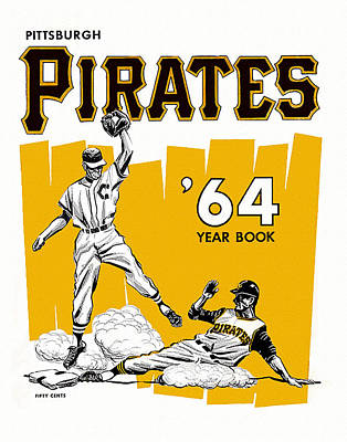 Pittsburgh Pirates 64 Yearbook Art Print by Big 88 Artworks