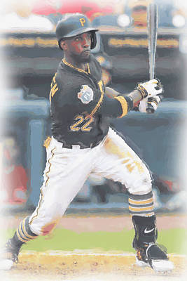 Digital Art - Pittsburgh Pirates Andrew Mccutchen 3 by Joe Hamilton